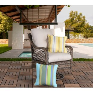 Ware Wicker Swivel Patio Chair with Cushions