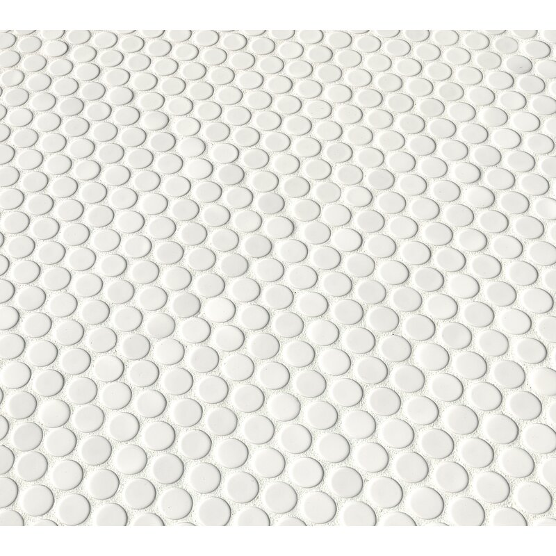 Msi Penny Porcelain Penny Round Mosaic Wall Floor Tile Reviews Wayfair