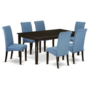 Fernanda Kitchen Table 7 Piece Extendable Solid Wood Dining Set Winston Porter