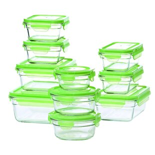Glasslock 10 Container Food Storage Set