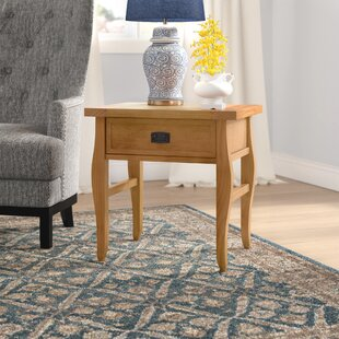 Finleyville 1 Drawer End Table by Three Posts