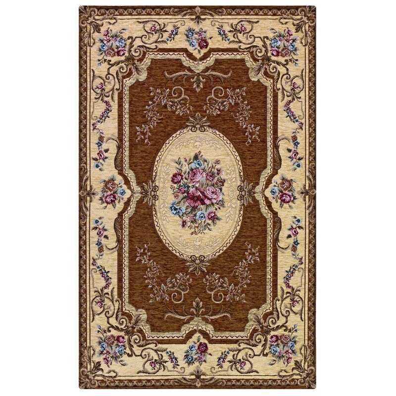 Astoria Grand Fain French Brown Rug
