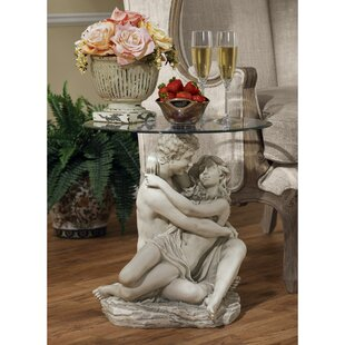 Buy clear In the Arms of Romance End Table By Design Toscano