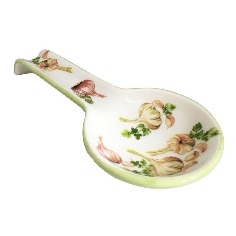 Farmhouse decor Spoon rest Ceramic spoon Handmade spoon rest Kitchen goods Green spoon rest Farmhouse kitchen Cottage kitchen decor
