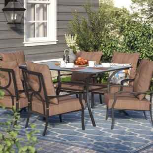 Andover Mills Keensburg 7 Piece Dining Set with Cushions