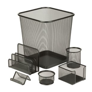 Gosport 6 Piece Steel Mesh Desk Organizer Set