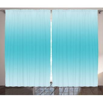 Folk N Funky Blue Smoke Watercolor Window Curtains Wayfair