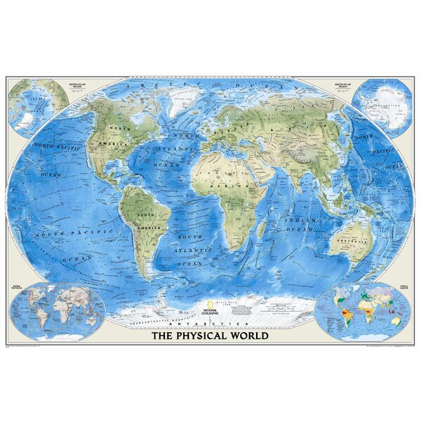 National Geographic RE00622010 World Physical-Ocean Floor Map