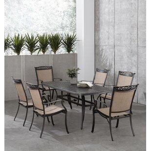 Bucher 7 Piece Outdoor Dining Set by Fleur De Lis Living