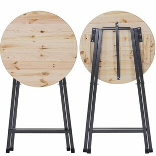 Marion Folding Metal And Wooden Bistro Table By Borough Wharf