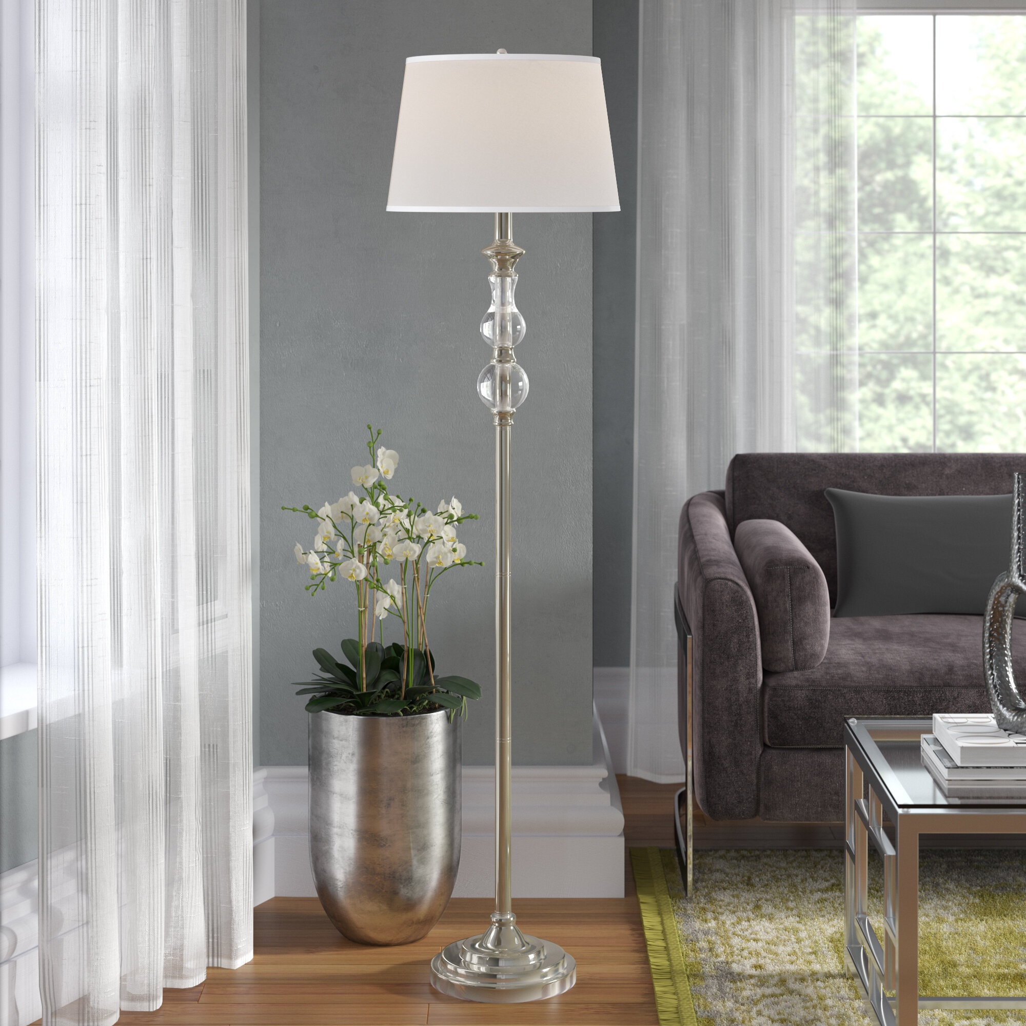 Awesome Agda 63 Standard Floor Lamp Theyellowbook Wood Chair Design Ideas Theyellowbookinfo