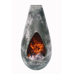 Clay Wood Burning Chiminea By Gardeco