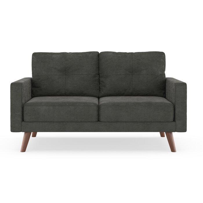 Fine Courtney Microsuede Loveseat Evergreenethics Interior Chair Design Evergreenethicsorg