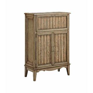 Ambon 3-door Wine Cabinet In Light Brown by Bloomsbury Market SKU:BB615547 Reviews