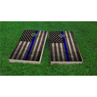 Custom Cornhole Boards American Thin Blue Line Cornhole Game (Set of 2)