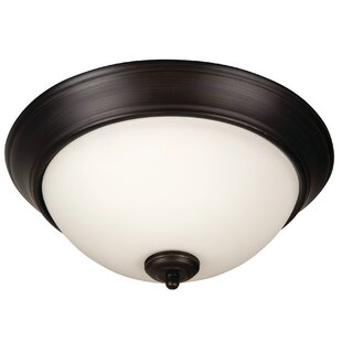 Charlton Home Byron 3-Light Flush Mount