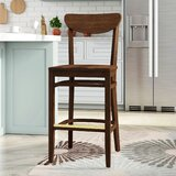 Beechwood Moon Shape Back Wood Seat Bar & Counter Stool by Regal