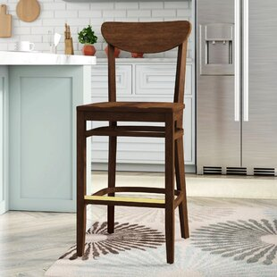 Beechwood Moon Shape Back Wood Seat Bar  Counter Stool by Regal