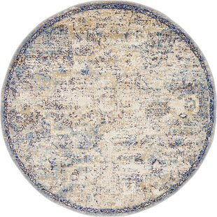 Koury Light Blue/Tan Area Rug by Bungalow Rose