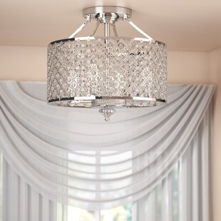 Harrell 4-Light Semi Flush Mount by Willa Arlo Interiors