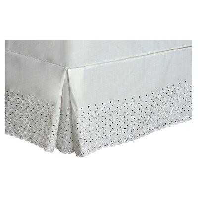 "Athenis Eyelet Deck 18"" Bed Skirt Lark Manor Size: Twin, Color: Natural"