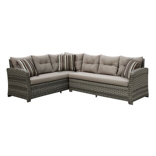 Ursula 3 Piece Sectional Seating Group with Cushion
