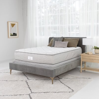 Serta 12 Plush Tight Top Innerspring Mattress Destination Home by Hilton Mattress Size: Full, Box Spring Height: High Profile (9)