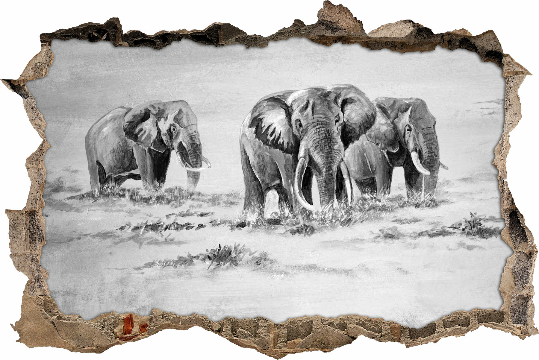 Home Loft Concept Wandtattoo Afrikanische Elefanten in Südafrika ...