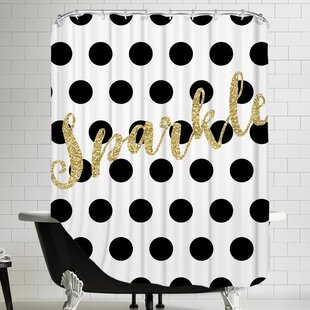 Black & White Single Shower Curtain