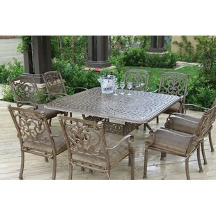 Palazzo Sasso 9 Piece Square Dining Set with Cushions by Astoria Grand