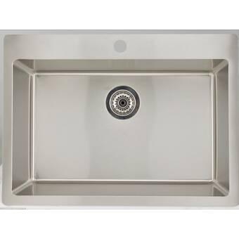 Kohler Glen Falls 22 X 25 Undermount Drop In Service Sink Wayfair