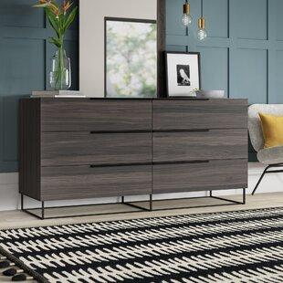 Mercury Row Mulford 6 Drawer Double Dresser