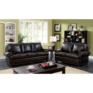 Jagen Leather Configurable Living Room Set