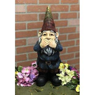 Addington Resin Speak No Evil Gnome Statue By Winston Porter