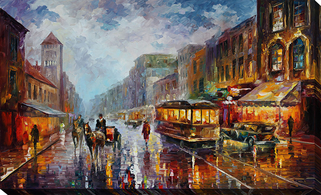 Pictureperfectinternational Los Angeles 1925 By Leonid Afremov Painting Print On Wrapped Canvas Wayfair