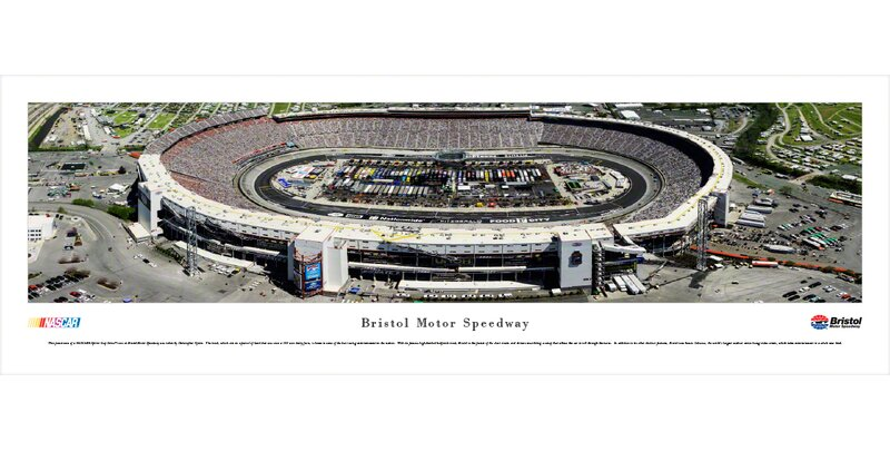 BlakewayPanoramas NASCAR 'Bristol Motor Speedway Food City 500' by Christopher Gjevre Photographic Print | Wayfair