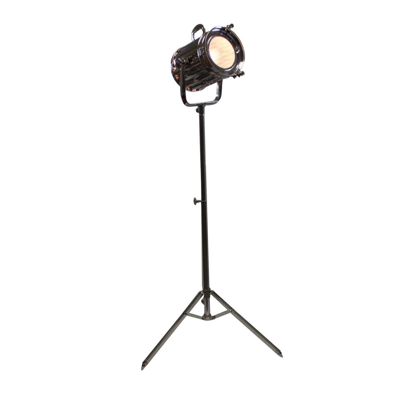 17 Stories Cruse Round Cinema Studio Spotlight 71 Led Tripod Floor Lamp Wayfair