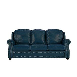 aqua leather sofa wayfair rh wayfair com Aqua Leather Recliner Aqua Leather Recliner