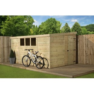 8 Ft. W X 9 Ft. D Shiplap Pent Wooden Shed By WFX Utility