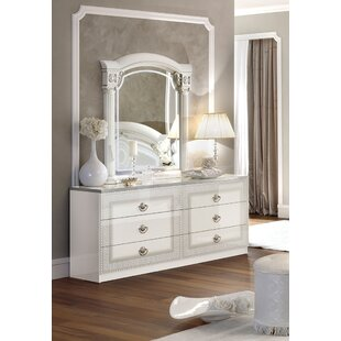 Albert 6 Drawer Double Dresser with Mirror