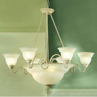 Classic Lighting Livorno 9-Light Shaded Chandelier