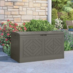 Baywood® Stoney 80 Gallon Resin Deck Box by Suncast