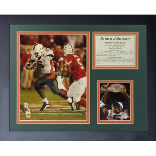 Andre Johnson - Miami Hurricanes Framed Memorabilia By Legends Never Die