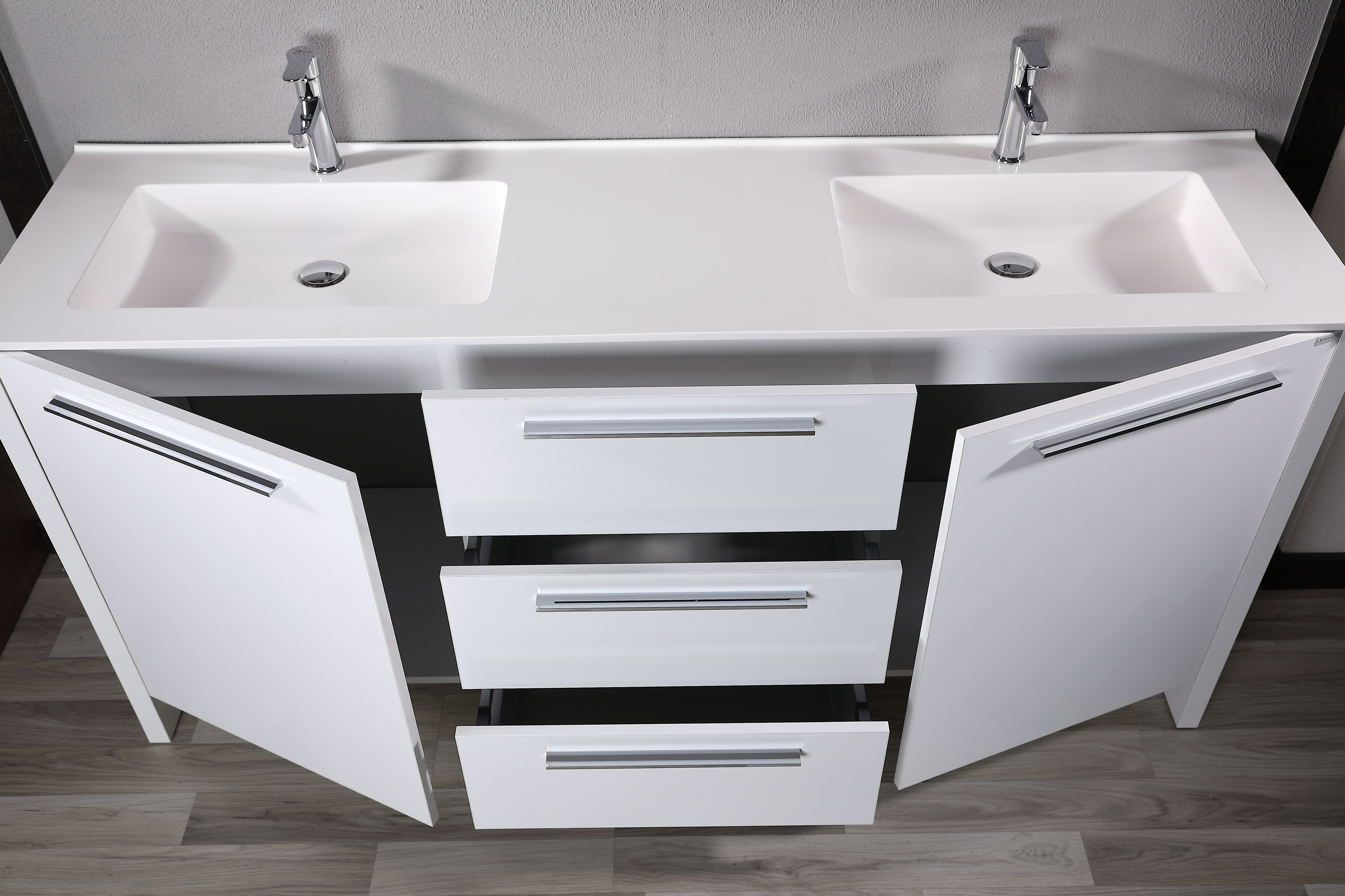 Orren Ellis Idrak 71 Double Bathroom Vanity Set With Mirror