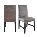 Stapp Upholstered Dining Chair in Gray (Set of 2) by Union Rustic