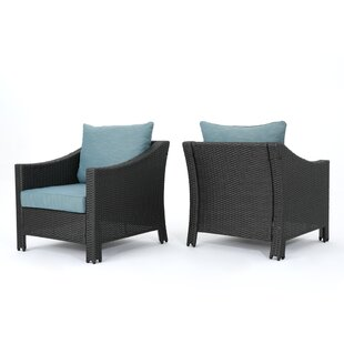 Hellman Patio Chair with Cushions (Set of 2)