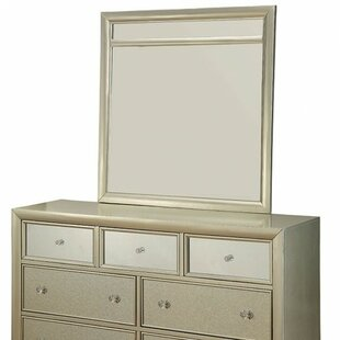 Rosdorf Park Borland 7 Drawer Double Dresser with Mirror