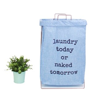 Compare prices Canvas Fabric Laundry Hamper ByIvy Bronx