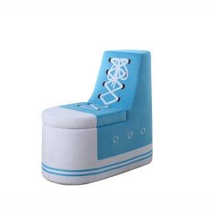 Zoomie Kids Arturo Sneaker Shoe Upholstered Storage Bench