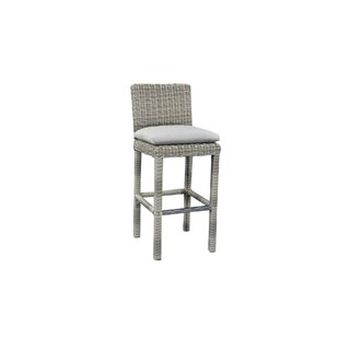Norman Outdoor Wicker Bar Patio Chair with Cushions